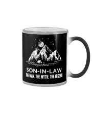 SON-IN-LAW - CAMPING - THE MAN THE MYTH Color Changing Mug thumbnail