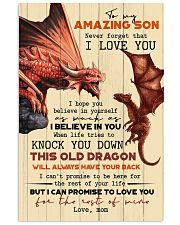 TO MY SON - FIRE DRAGON - OLD DRAGON 16x24 Poster front