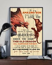 TO MY SON - FIRE DRAGON - OLD DRAGON 16x24 Poster lifestyle-poster-2
