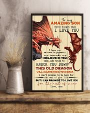 TO MY SON - FIRE DRAGON - OLD DRAGON 16x24 Poster lifestyle-poster-3