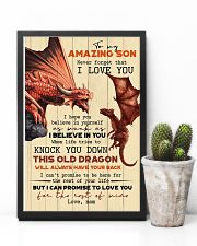 TO MY SON - FIRE DRAGON - OLD DRAGON 16x24 Poster lifestyle-poster-8