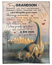 "To My Grandson - Dinosaur - Fleece Blanket Small Fleece Blanket - 30"" x 40"" front"