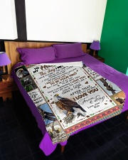 "TO MY HUSBAND Large Fleece Blanket - 60"" x 80"" aos-coral-fleece-blanket-60x80-lifestyle-front-01"