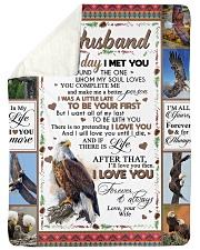 "TO MY HUSBAND Large Sherpa Fleece Blanket - 60"" x 80"" thumbnail"