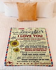"""To My Daughter - Never Forget That Small Fleece Blanket - 30"""" x 40"""" aos-coral-fleece-blanket-30x40-lifestyle-front-04"""