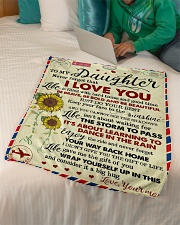 """To My Daughter - Never Forget That Small Fleece Blanket - 30"""" x 40"""" aos-coral-fleece-blanket-30x40-lifestyle-front-07"""