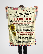 """To My Daughter - Never Forget That Small Fleece Blanket - 30"""" x 40"""" aos-coral-fleece-blanket-30x40-lifestyle-front-14"""