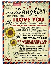 """To My Daughter - Never Forget That Small Fleece Blanket - 30"""" x 40"""" front"""