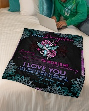 """Daughter - Sometimes It's Hard To Find Words  Small Fleece Blanket - 30"""" x 40"""" aos-coral-fleece-blanket-30x40-lifestyle-front-07"""