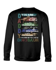 TO DAD - VINTAGE STYLE - FAVORITE DINOSAUR Crewneck Sweatshirt tile