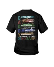 TO DAD - VINTAGE STYLE - FAVORITE DINOSAUR Youth T-Shirt thumbnail