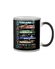 TO DAD - VINTAGE STYLE - FAVORITE DINOSAUR Color Changing Mug thumbnail