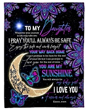 """Daughter - Moon And Butterfly - Wherever Your Small Fleece Blanket - 30"""" x 40"""" front"""