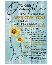 MOM AND DAD TO DAUGHTER 16x24 Poster front