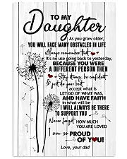 To My daughter - Dandelion - As You Grow Older 16x24 Poster front