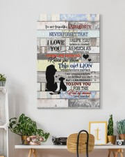 To My daughter - Lion - I Hope You Believe In 20x30 Gallery Wrapped Canvas Prints aos-canvas-pgw-20x30-lifestyle-front-03