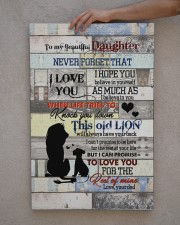 To My daughter - Lion - I Hope You Believe In 20x30 Gallery Wrapped Canvas Prints aos-canvas-pgw-20x30-lifestyle-front-29