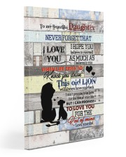 To My daughter - Lion - I Hope You Believe In 20x30 Gallery Wrapped Canvas Prints front
