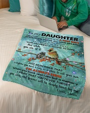 "To My Daughter - Live Life To The Fullest Small Fleece Blanket - 30"" x 40"" aos-coral-fleece-blanket-30x40-lifestyle-front-07"