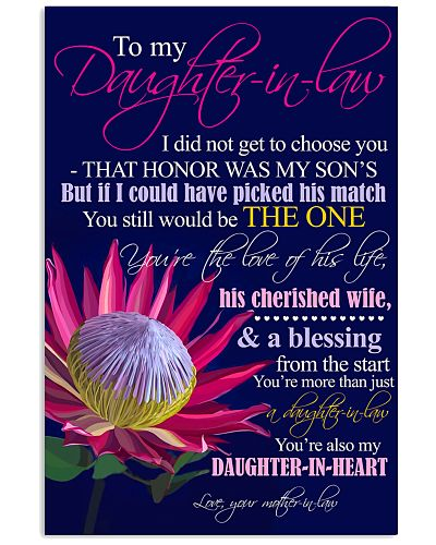 TO MY DAUGHTER-IN-LAW - PROTEA - BE THE ONE