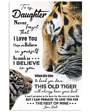 POSTER - TO MY DAUGHTER - TIGER - NEVER FORGET 16x24 Poster front