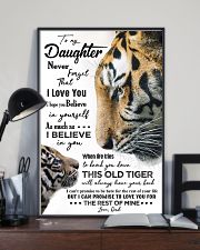 POSTER - TO MY DAUGHTER - TIGER - NEVER FORGET 16x24 Poster lifestyle-poster-2