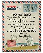 FLEECE BLANKET - TO MY DAD - LETTER - LOVE YOU Fleece Blanket tile