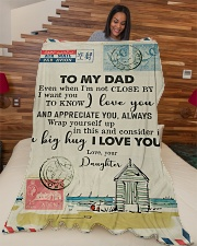 """FLEECE BLANKET - TO MY DAD - LETTER - LOVE YOU Large Fleece Blanket - 60"""" x 80"""" aos-coral-fleece-blanket-60x80-lifestyle-front-04"""