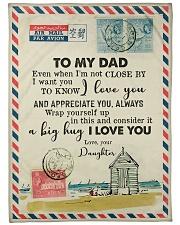 "FLEECE BLANKET - TO MY DAD - LETTER - LOVE YOU Large Fleece Blanket - 60"" x 80"" front"