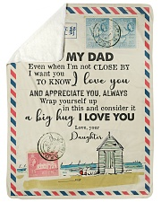 FLEECE BLANKET - TO MY DAD - LETTER - LOVE YOU Sherpa Fleece Blanket tile