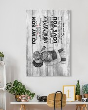 Mom to Son - Hugging - Never Feel That You Are  20x30 Gallery Wrapped Canvas Prints aos-canvas-pgw-20x30-lifestyle-front-03