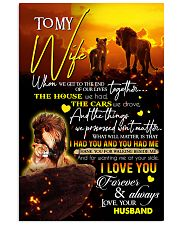 TO MY WIFE - LION - I LOVE YOU 16x24 Poster front