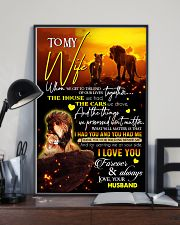 TO MY WIFE - LION - I LOVE YOU 16x24 Poster lifestyle-poster-2