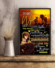 TO MY WIFE - LION - I LOVE YOU 16x24 Poster lifestyle-poster-3