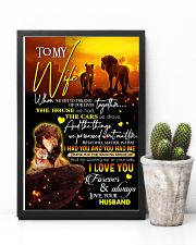 TO MY WIFE - LION - I LOVE YOU 16x24 Poster lifestyle-poster-8