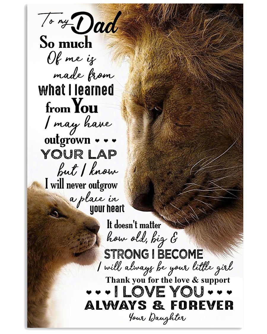POSTER - TO MY FATHER - LION - SO MUCH OF ME 16x24 Poster