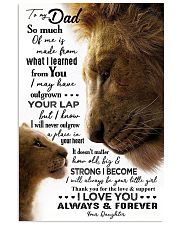 POSTER - TO MY FATHER - LION - SO MUCH OF ME 16x24 Poster front