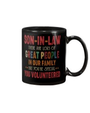 MUG - SON-IN-LAW - VINTAGE - YOU VOLUNTEERED Mug front