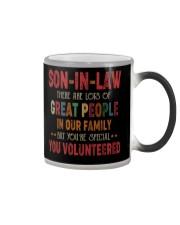 MUG - SON-IN-LAW - VINTAGE - YOU VOLUNTEERED Color Changing Mug thumbnail