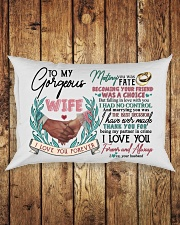 TO MY WIFE - HAND IN HAND - I LOVE YOU Rectangular Pillowcase aos-pillow-rectangle-front-lifestyle-2