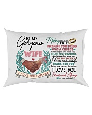 TO MY WIFE - HAND IN HAND - I LOVE YOU Rectangular Pillowcase back