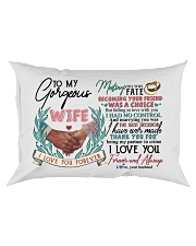 TO MY WIFE - HAND IN HAND - I LOVE YOU Rectangular Pillowcase front