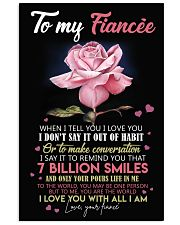 TO MY FIANCE 16x24 Poster front