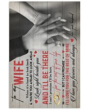 TO MY WIFE - HANH IN HAND - I LOVE YOU 16x24 Poster front