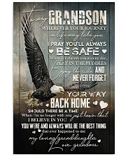Grandma to Grandson - Never Forget Your Way  16x24 Poster front