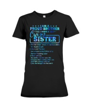 Brother - I Have A Crazy Sister - T-Shirt Premium Fit Ladies Tee thumbnail