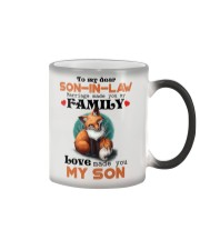 TO MY SON-IN-LAW - FOX - LOVE MADE YOU MY SON Color Changing Mug thumbnail