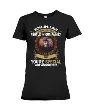 SON-IN-LAW - DRAGON - VINTAGE - YOU VOLUNTEERED Premium Fit Ladies Tee thumbnail