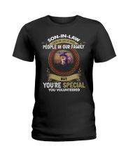 SON-IN-LAW - DRAGON - VINTAGE - YOU VOLUNTEERED Ladies T-Shirt thumbnail