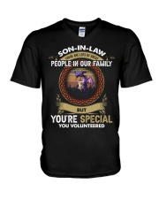 SON-IN-LAW - DRAGON - VINTAGE - YOU VOLUNTEERED V-Neck T-Shirt thumbnail